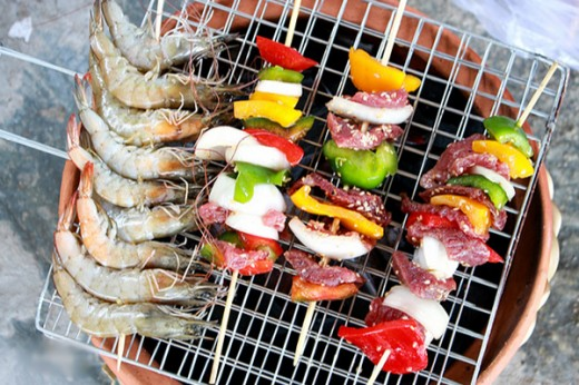 Barbeque at Hua Hin beach