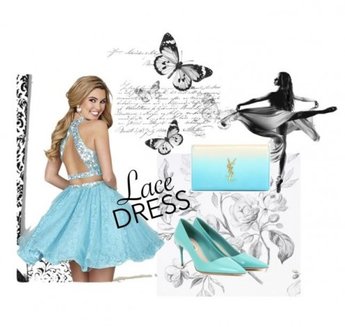 Lovely blue feminine dress for a special night out