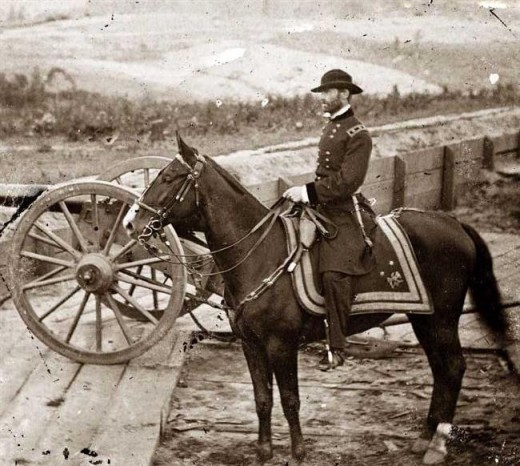General William Tecumseh Sherman at the Battle of Atlanta