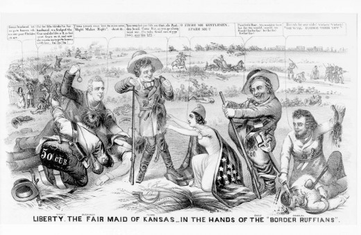 A bitter indictment of the Democratic administration's responsibility for violence and bloodshed in Kansas in the wake of the 1854 Kansas-Nebraska Act.