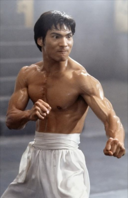Oriental - American actor:  Jason Scott Lee in his role as Bruce Lee.  When will Hollywood allow Asian men and women to become leading actors.