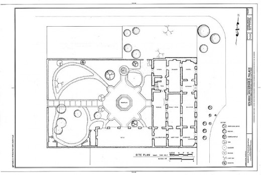 Site Plan - Spanish Governor's Palace, 105 Plaza de Armas, San Antonio, Bexar County, TX