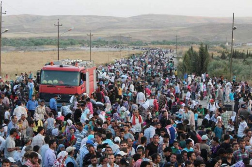Syrian Refugees estimated in the millions