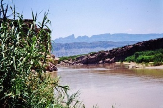 Rio Grande River in Big Bend National Park, TX