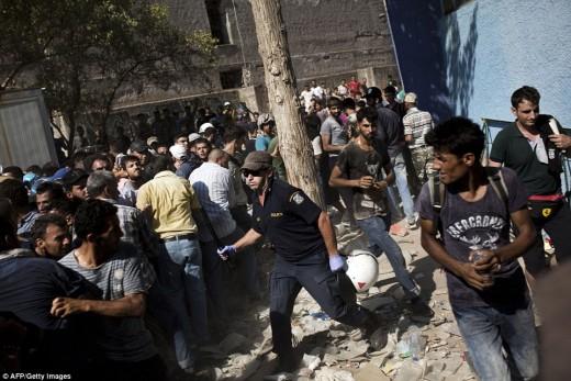 Migrant Violence in Greece