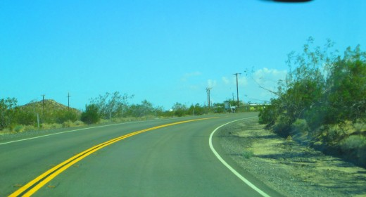 There are many bends along this stretch of road.