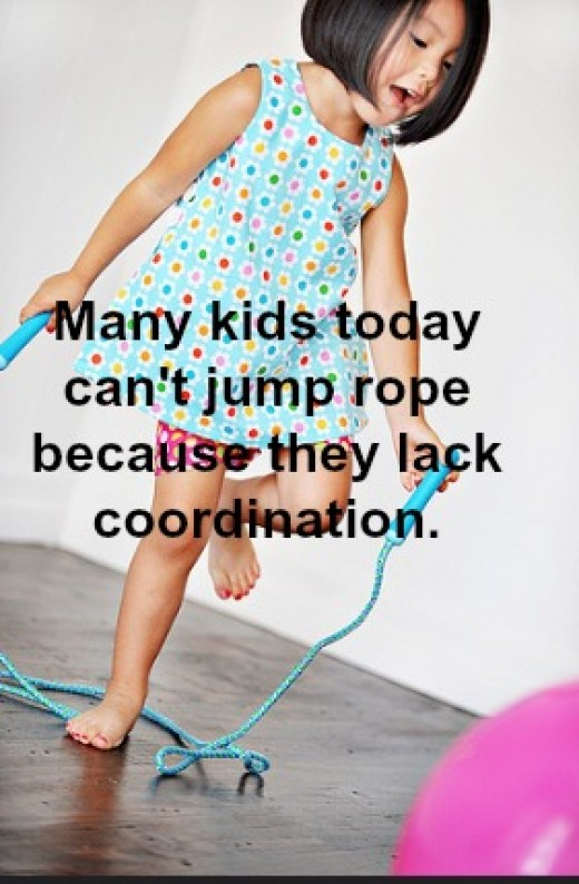 Ropes are a staple of perceptual-motor programs -- walking on the rope, jumping over the rope, hopping around the rope.