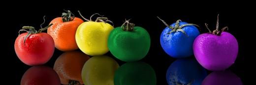 Tomatoes, Tomato, Rainbow Color,
