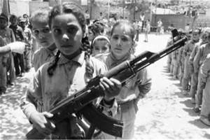 Child soldiers with guns