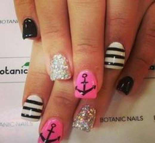 Marine Nails | Nail Art Ideas for Teens