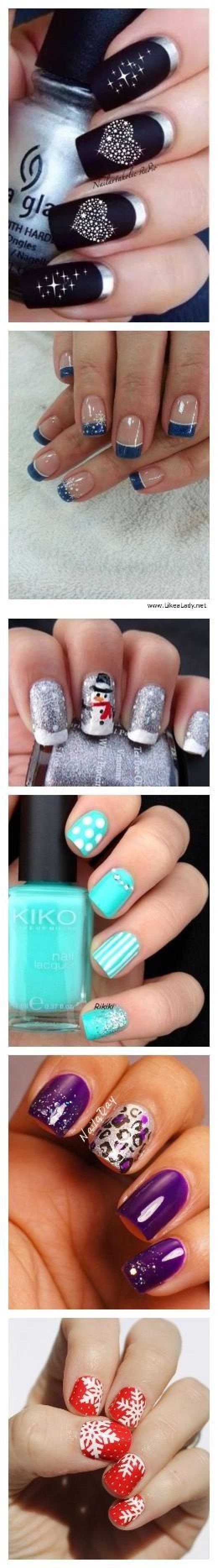 Black + Bling | Cute Valentines Day Nail Art Ideas for Teens