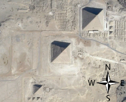 The pyramids of Giza are perfectly aligned to the CURRENT geographical pole.
