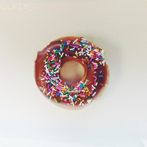 Many people love doughnuts with tasty sprinkles.