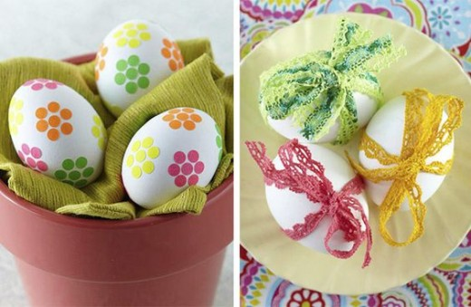 Easy Easter Egg decorating ideas for you and your kids.