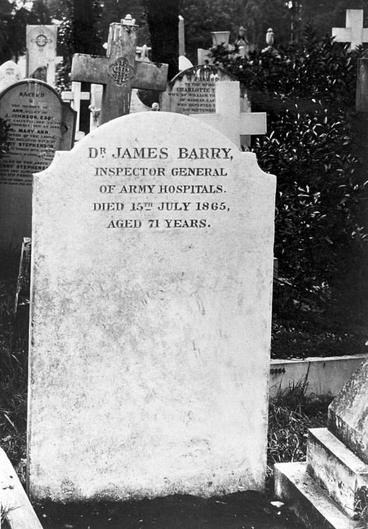 James Barry's headstone