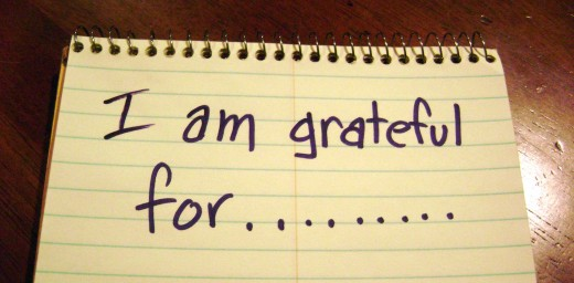 Practicing gratitude - create a gratitude list!