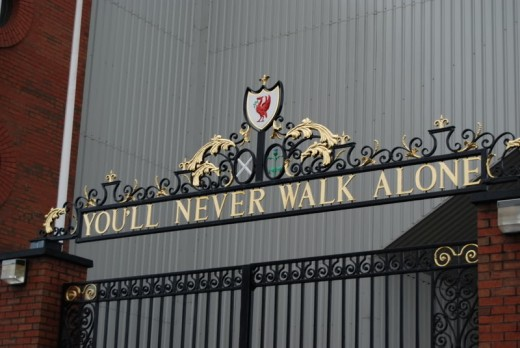 Liverpool's famous words that fans sing.