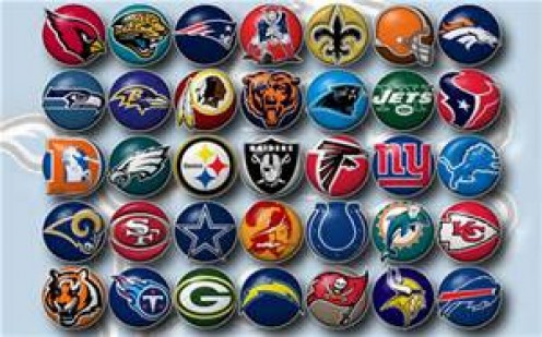 A look at some of the logos in the NFL. The NFL has 32 teams spread out into two conferences which are the AFC and the NFC.