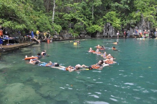 Swimming at Kayangan Lake