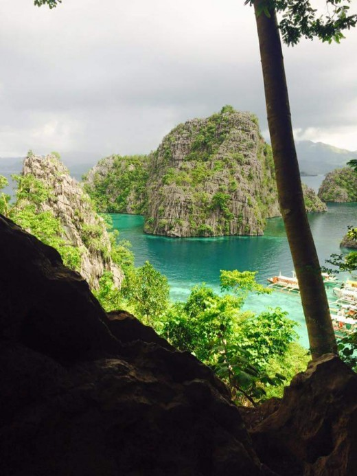 View from the top of Kayangan Lake. Sorry for the pic.