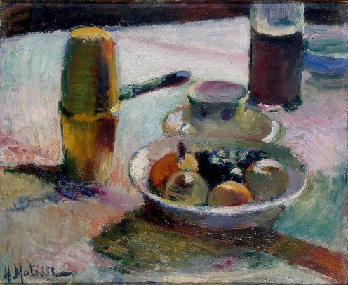 Henri Matisse, Fruit and Coffeepot. This painting is a good example of his early, more traditional style.