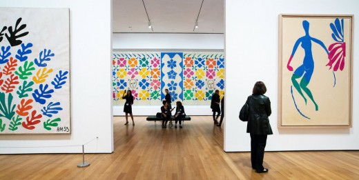 A Matisse exhibit at the Museum of Modern Art, NY.