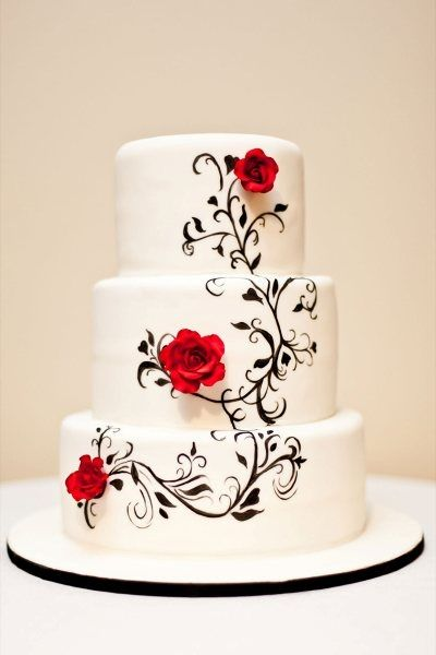 White Rose Birthday Cake