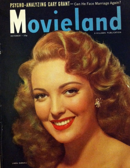 On the cover of October 1948 issue of Movieland magazine.