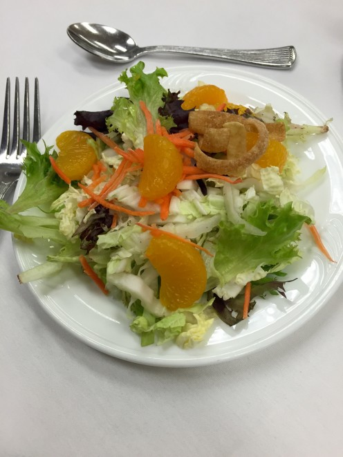 Salad is a healthy choice if you don't use too much salad dressing.