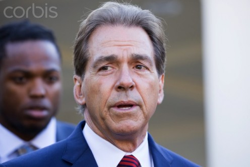 Alabama Crimson Tide head coach, Nick Saban.