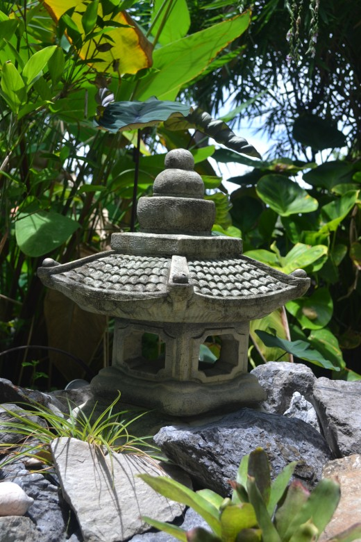Japanese lantern by the pond