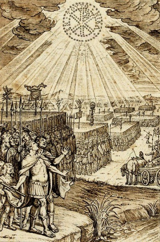 Constantine's vision and his holy war.