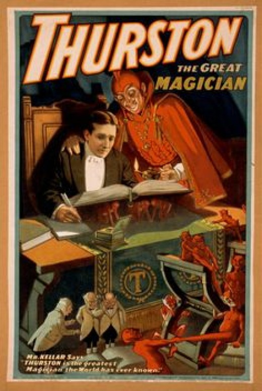 demon imagery is common in advertisements relating to magic