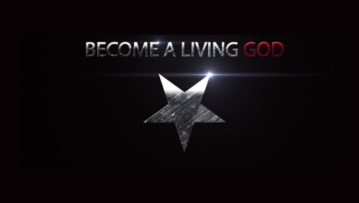 the logo used by EA Koetting, who claims he give you the secrets to becoming a living god by making pacts with spirits