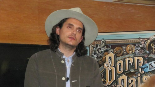 John Mayer Speaking at a Meet & Greet in NYC