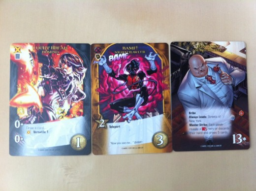 New features on the cards, from left to right: Versatile, Teleport, and Bribe.