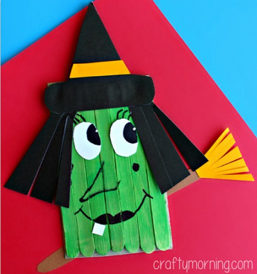 Materials Needed: 7 Popsicle Sticks Cardboard (cereal box) Scissors Black, brown, white, and yellow paper Black sharpie Green paint Glue