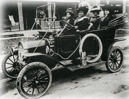 Madame CJ Walker Driving an Automobile