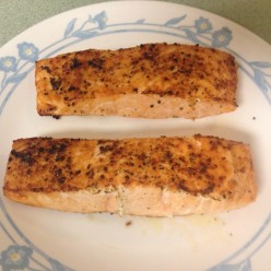 Simple Salmon Steak Dish