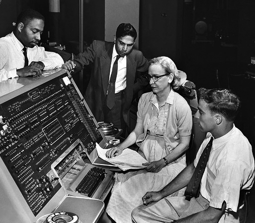 Grace Hopper helping to develop the first commercial computer