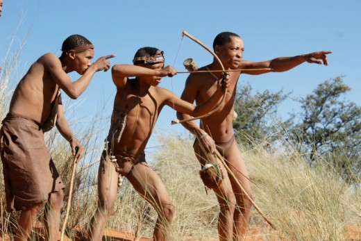 The San Bushmen of the Kalahari Desert