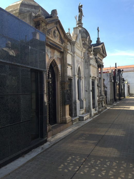 One of the little lanes in Recoleta Cemetery
