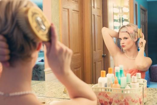 Pretty Woman, Makeup, Mirror, Glamour