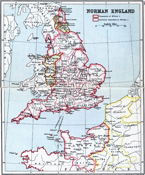 Angered by Exeter closing its gates to him late in 1067, William set  the Norman military machine into action with the northward spread of his lords and vassals. By 1074 the takeover was virtually complete but for outlaws - 'Green Men' - in the wilds