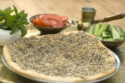 Manakeesh with Zaatar & Cheese from the Arabic Cuisine