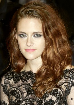 Kristen Stewart at the United Kingdoms premiere of The Twilight Saga: Breaking Dawn in year 2012, beautiful eyes