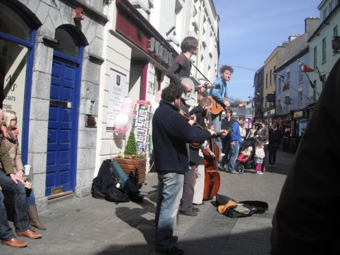 One of the Buskers in Historic Galway.
