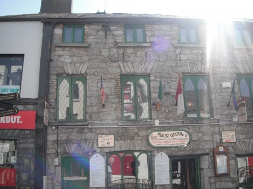 Finnigan's, Its a restaurant in an 15th century building. I recommend their Shepard's Pie.
