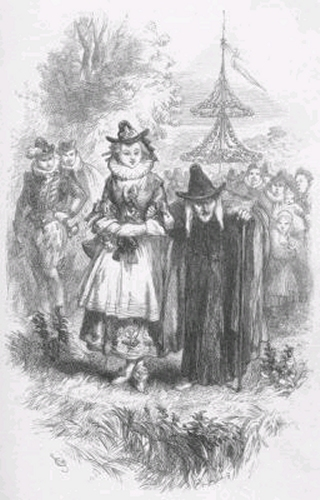 Drawing of Nance Redferne and Chattox, Two Accused Pendle Witches