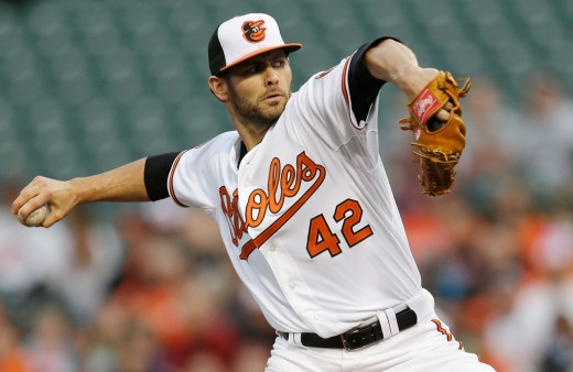 Jake Arrieta with the Baltimore Orioles